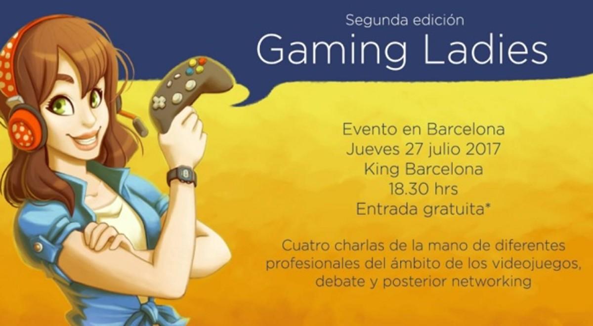 El cartel del Gaming Ladies, que debía celebrarse en Barcelona el 27 de julio.