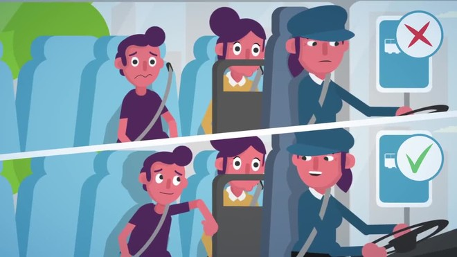 Trànsit impulsa una campanya perquè els viatgers es cordin el cinturó als autocars