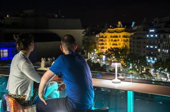 Vistas desde la terraza Alaire del Hotel Condes de Barcelona.