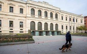Imagen de la Audiencia Provincial de Burgos, donde se celebrará el juicio a los exjugadores de la Arandina