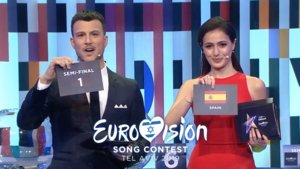 Imagen del Allocation Draw (Sorteo de Semifinales) de Eurovisión 2019.