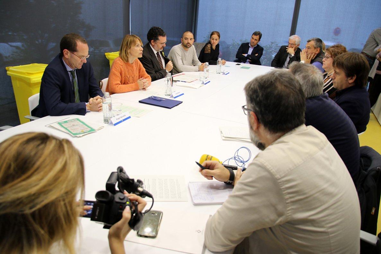 Imagen de la presentación del proyecto este miércoles en Sant Boi