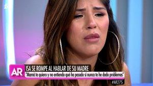 """Isa Pantoja se derrumba y Ana Rosa la consuela: """"No llores, todo se arreglará"""""""