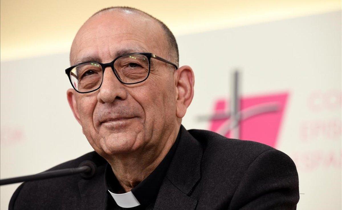 Juan José Omella, tras ser elegido presidente de la Conferencia Episcopal Española.