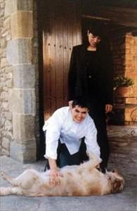 Jubany y su mujer, tras abrir en 1995.