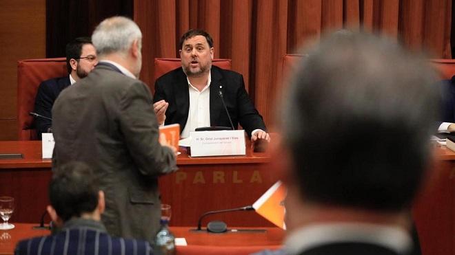 Junqueras comparece en la comisión de investigación sobre el 155.