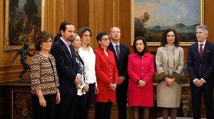 Juramento de los ministros del nuevo Gobierno de Pedro Sánchez.