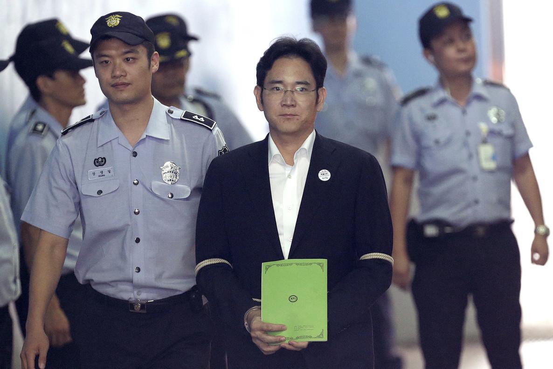 Lee Jae-yong, tras su detención en agosto del 2017.