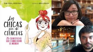 Irene Cívico y Sergio Parra, autores de La chicas son de ciencias (Penguin Random House, 2018)