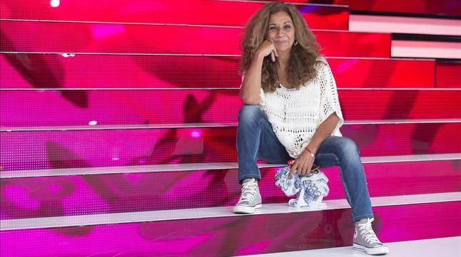 La cantante y actriz Lolita Flores, en el plató de 'Tu cara me suena' (Antena 3).
