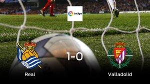 Los tres puntos se quedan en casa tras el triunfo de la Real Sociedad frente al Real Valladolid (1-0)