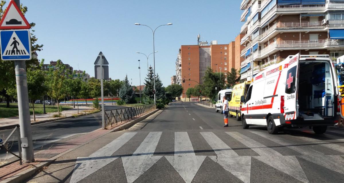 Lugar del atropello en Alcorcón.