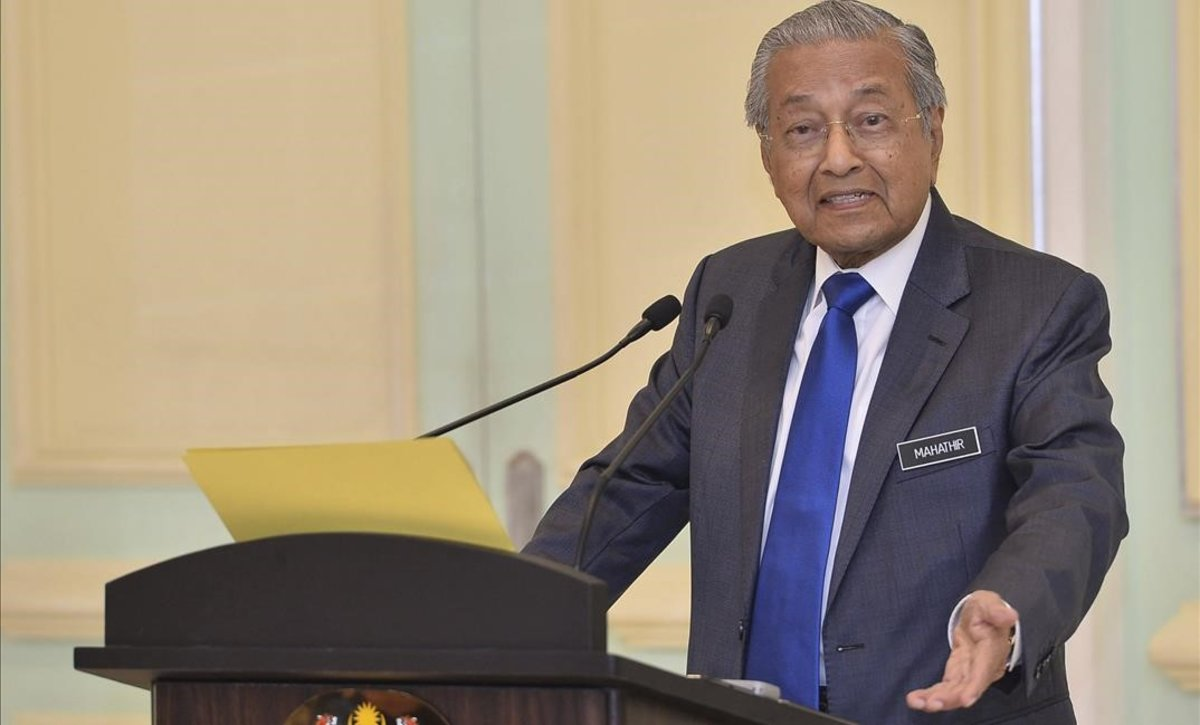 Mahathir Mohamad, primer ministro de Malasia.