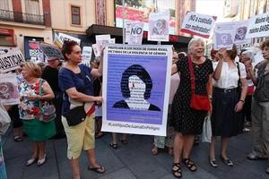 Una de las manifestaciones desarrolladas en apoyo de Juana Rivas.