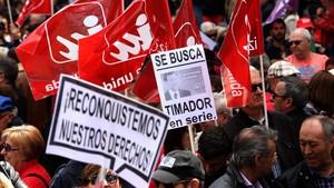 Manifestación del 1 de Mayo día del Trabajador.