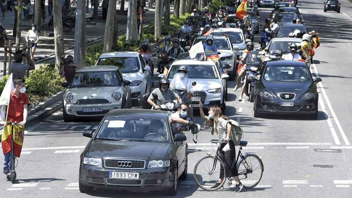 Manifestación de VOX contra el Gobierno en Barcelona.