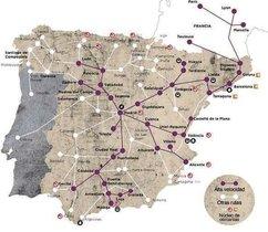 El mapa con errores de Renfe.