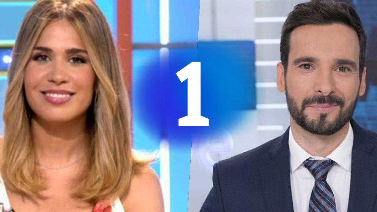 María Gómez y Lluis Guilera, presentadores de 'La Pr1mera Pregunta' en TVE.