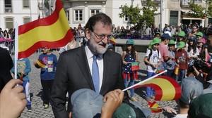 Mariano Rajoy, este martes en Vila Real (Portugal).