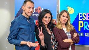 Marta Flich junto a María Gómez y Alberto Casado, sus compañeros en 'Ese programa del que usted me habla'.