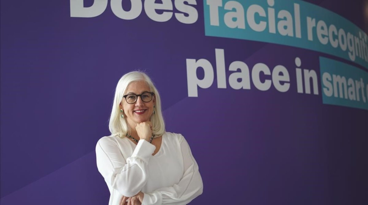 Mary Haskett, experta en reconocimiento facial, en el Digital Future Society, el pasado miércoles.