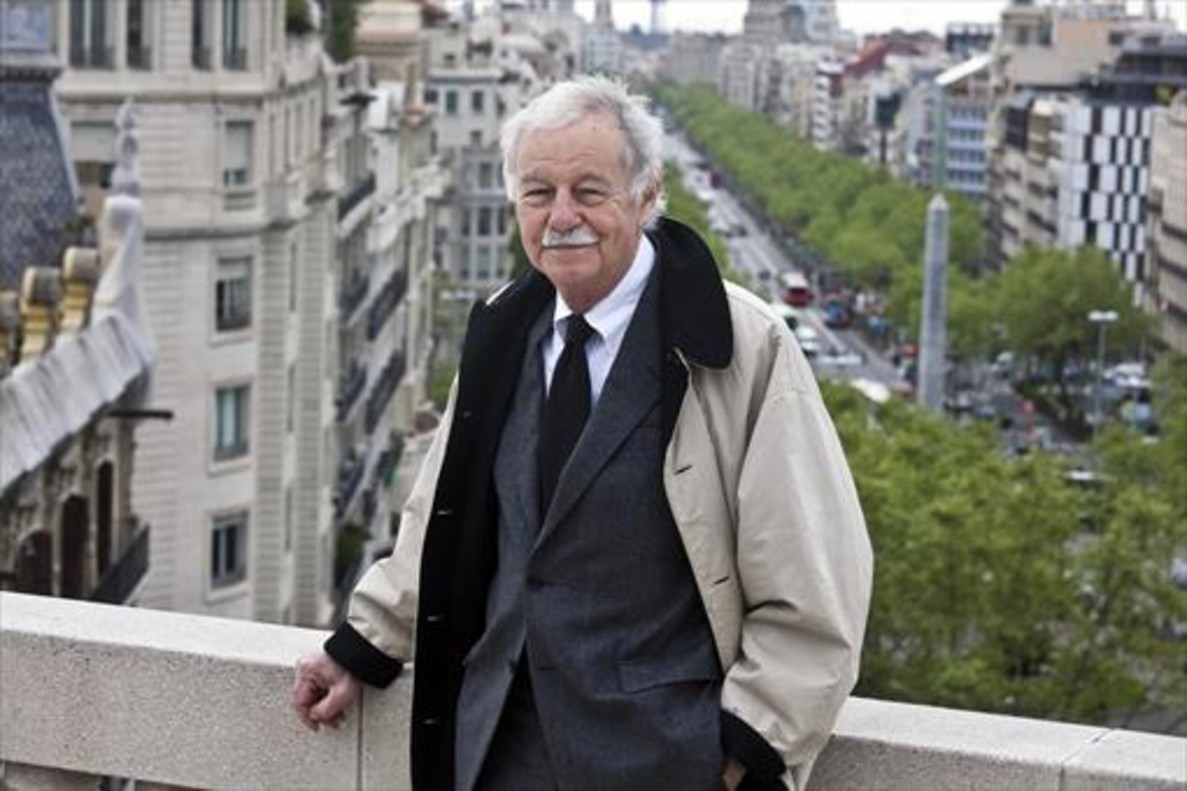 Mendoza, en la presentación de El enredo de la bolsa y la vida, en el 2012.