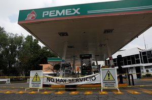 A general view shows a closed gas station in Mexico City  Mexico   REUTERS Henry Romero