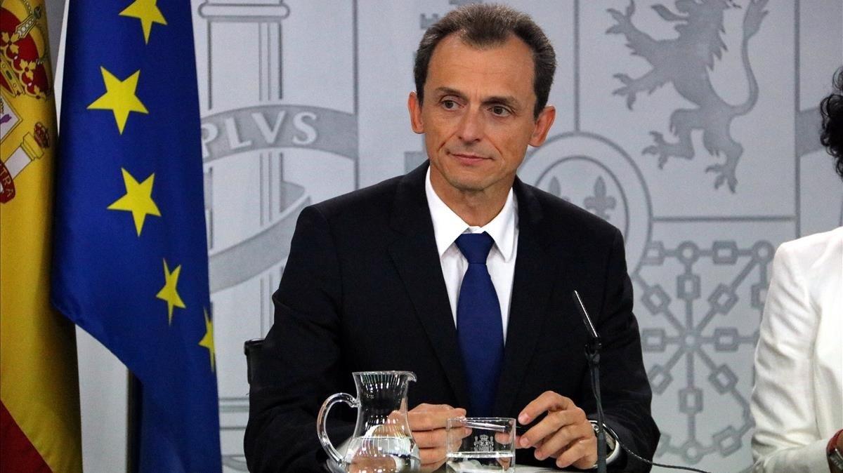 El ministro de CienciaInnovación y Universidades, Pedro Duque, durante una rueda de prensa posterior al Consejo de Ministros.