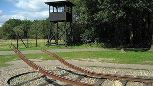 Monumento en el campamento de Westerbork, en el noreste de los Países Bajos.