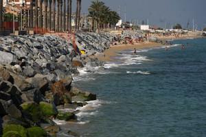 Una platja de Vilassar de Mar, al Maresme.