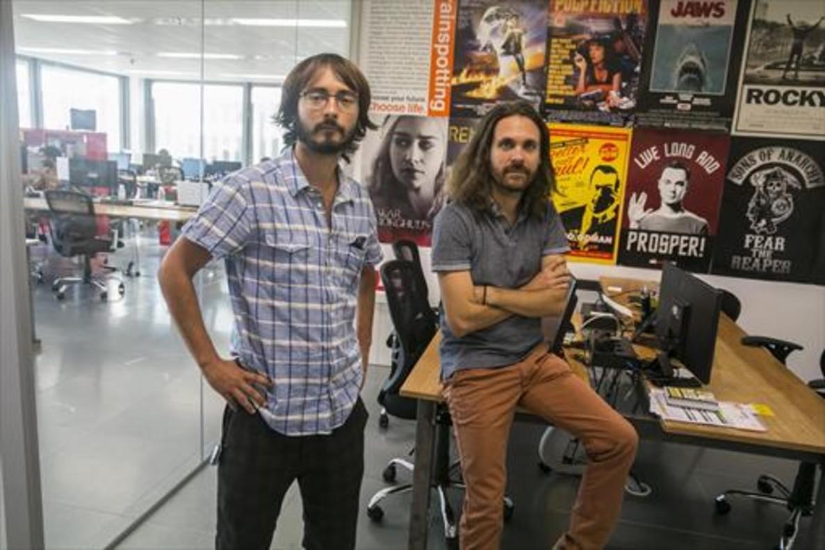 Oriol Soléy Andreu Caritg, fundadores de Tviso.