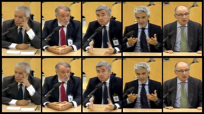 Javier Arenas, Jaime Mayor Oreja, Ángel Acebes, Gerardo Galeote y Rodrigo Rato, declaran en el macrojuicio de la trama Gürtel.