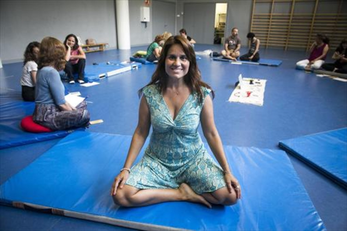 Pilar Aguilera, experta en mildfulness, en una de sus clases.