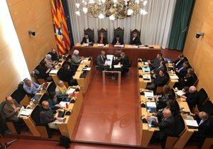 Pleno municipal de Badalona.