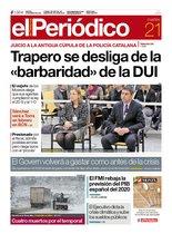La portada de EL PERIÓDICO del 21 de enero del 2020
