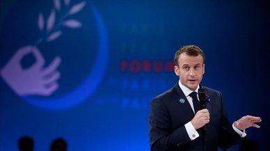 """Macron: """"El patriotismo es exactamente lo contrario del nacionalismo"""""""
