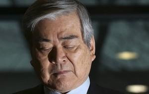 El presidente de Korean Air, Cho Yang-ho, durante la comparecencia en la que ha pedido disculpas, este viernes en Seúl.