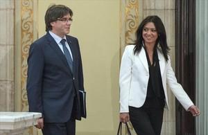 La primera dama 8Topor, el 28 de septiembre, día del debate de la moción de confianza a Puigdemont.