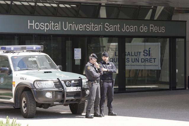 El hospital Sant Joan de Reus, durante un registro por el caso Innova.