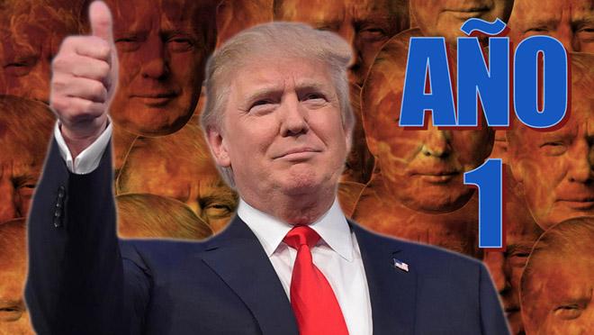 Revive el polémico primer año de Trump como Presidente.