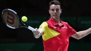 Bautista abandona l'equip espanyol de Copa Davis per assumptes familiars
