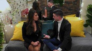 Saray y Cristian en 'First Dates'.