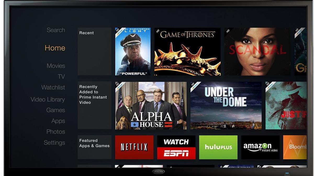 Fotomontaje de Amazon con diferentes productos audiovisuales que se comercializan a través de plataformas de televisión por internet.