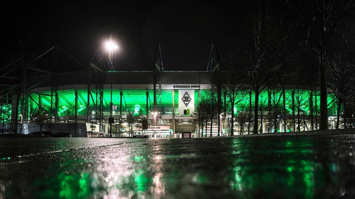 El exterior del estadio del Borussia.