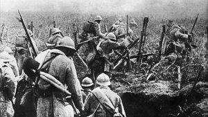 Soldados franceses en 1916, durante la batalla de Verdún, en la primera guerra mundial.