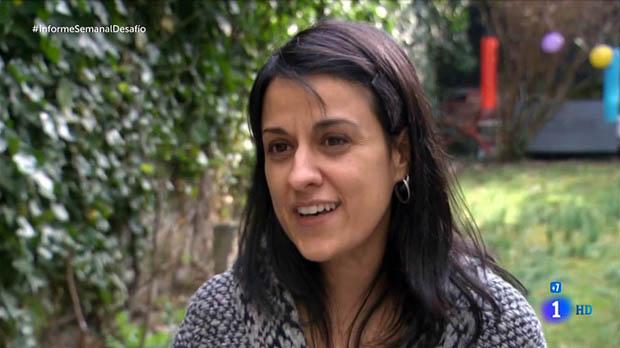 Anna Gabriel, disseccionada aInforme semanal (TVE-1).