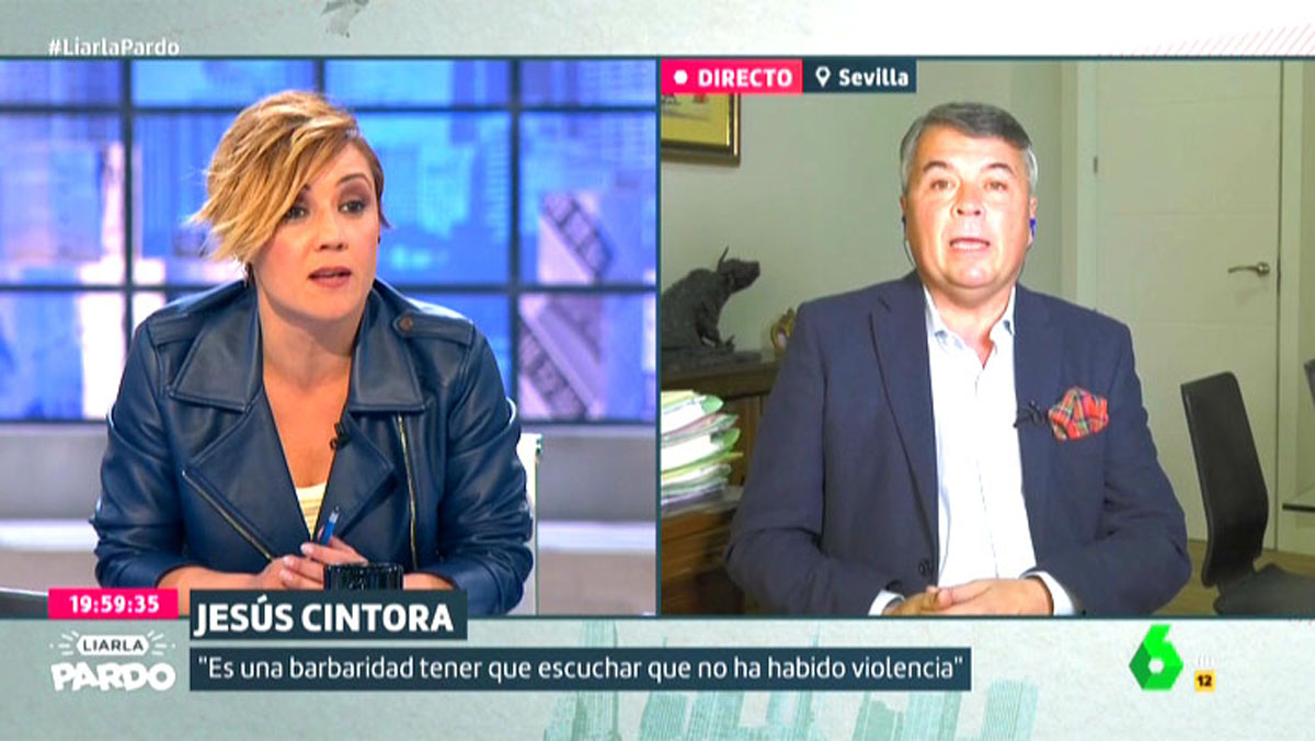 Cristina Pardo entrevistó al abogado Agustín Martínez (Liarla Pardo, La Sexta).