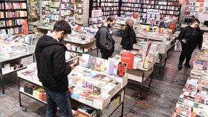 Una imagen de la librería La Central del Raval, este jueves.