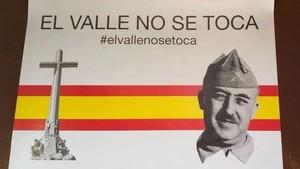 Una de las pancartas de protesta encontradas en Alcalá de Henares.