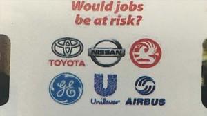 Uso de logos de empresas por la campaña del brexit, entre ellas Nissan.